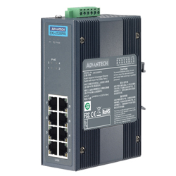 8-Port Unmanaged PoE Switch For Industrial Use, Wide Temperature