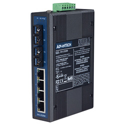 4 + 2 100FX Single-Mode Unmanaged Ethernet Switch For Industrial Use
