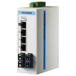 4FE + 2FE SC Multi-Mode Unmanaged Ethernet Switch For Industrial Use, Wide Temperature