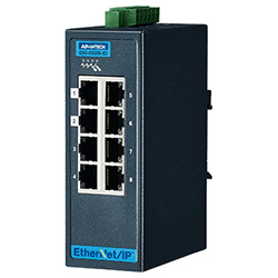 8FE Entry Managed Ethernet Switch For Industrial Use, Ethernet/IP, Wide Temperature