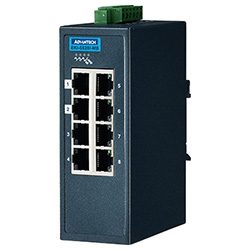 8FE Entry Managed Ethernet Switch For Industrial Use, Modbus/TCP, Wide Temperature