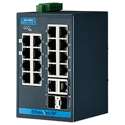 16FE + 2G Combo Entry Managed Ethernet Switch For Industrial Use, Ethernet/IP
