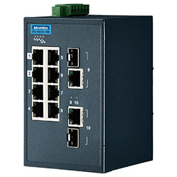 16FE + 2G Combo Entry Managed Ethernet Switch For Industrial Use, Modbus/TCP