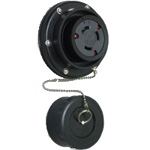 Waterproof Panel Outlet - Twist Lock Type 60 A