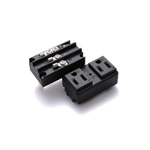 Hyper Panel Mount Outlet, Dual Flat-Blade Type, 15 A