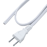 AC Cord Single-End 2P Cut-Off White