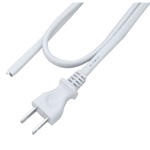 AC Cord - with One-End 2P, Uses Oval-Shaped Cord