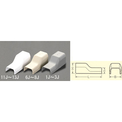 [Plastic] Cable Cover Joint [Corner] EA947HM-11J