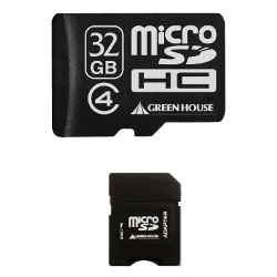 microSDHC card Class4 with SD card conversion adapter