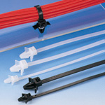 This offset Insulok push-mounting tie includes wings and is available in heat resistant grades