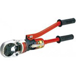 For use with bare crimp terminals and sleeves (manual hydraulic tool).