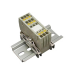 Clutch Lock Terminal Block Compact Series (Rail Type) Standard Type