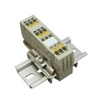 Clutch Lock Terminal Block, Compact Series (Rail Type), Includes Insertion Display Function