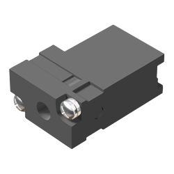 MELSEC-Q series RS-232 connector disconnection prevention holder