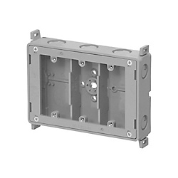 Switch Box With 3/8-Inch Stud For Walls With Exposed Beams