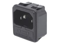 IEC Standard - Inlet with Fuse Holder (Snap-In) / C14