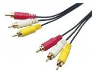 Universal Harness Series 3-Pin RCA Plug (Red, White, Yellow)