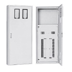 Slim saver lighting and power mixed circuit breaker panel for tenant