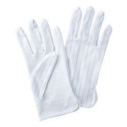 Antistatic gloves (with a slip stopper)