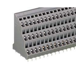 3 stage terminal block for printed circuit board, 737 series.