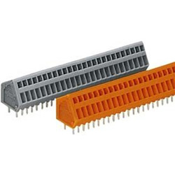 Terminal block For printed circuit boards, 233 series, max 0.5 mm2, 2.5 and 2.54 mm pitch.