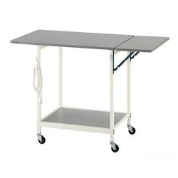 New Lab Bench (White Color) 1200 x 600 x 800 with Auxiliary Top Panel