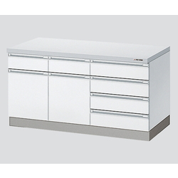Side Laboratory Bench White, Wooden Type 1200 x 750 x 800