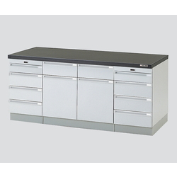 Side Laboratory Bench Wooden Type, with Slide Shelf 1800 x 750 x 800