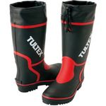 Colored Long Boot Black/Red