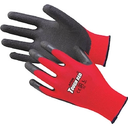 Unlined rubber gloves tough red 3 double packs
