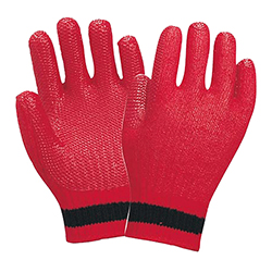 Solid Rubber Coated Gloves (7G, Press Rubber Glove NEW AKABEI)