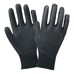 Solid Rubber Coated Gloves (10G, Press Rubber Glove YAWARAKA KUROBEI)