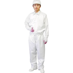 Garments for clean room, jacket (w/ collar)