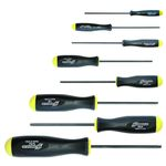 Ballpoint Screwdriver, Imperial, 8 Piece Set (with Screw Holding Function)