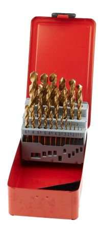 25 Pieces Fully Ground Drill Set