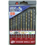 Hexagonal Shank Combination Drill Blade Set (10-Piece Set)