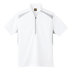 Sweat-Absorbing, Quick Drying, Short-Sleeve Half-zip AS-577