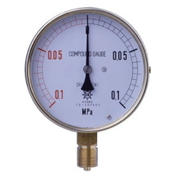 HNT General Purpose Compound Gauge For Vapor, Rimless Type (A)