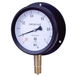 MPK Metal Closed Vacuum Gauge SUS, Vibration-Proof Type, Rounded Edge Type (B)