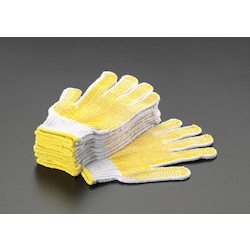 Cotton Work Gloves [with Anti-slip Processing] (5 Pairs) EA354AB-5