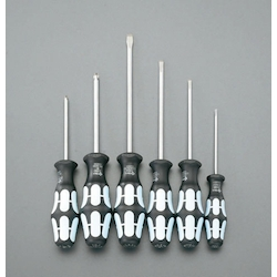 (+)(-) Screwdriver Set (6 Pcs) [Stainless Steel] EA560A
