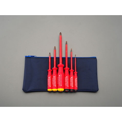 [6 Pcs] (+)(-) Insulated Screwdriver EA560PL-20