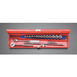 "(3/8"") Socket Wrench Set [Metric] EA617AC-1"