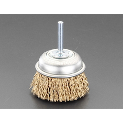Cup Type Wire Brush with Shaft (6mm Shaft) EA819BR-1