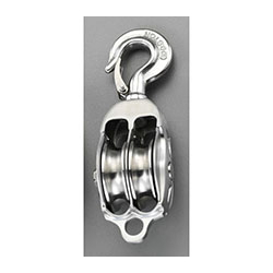 [Stainless Steel] Pulley with Hook (2 Wheels) EA987SB-75AB