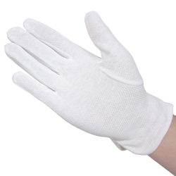 9104 Pure Cotton Smooth Gloves with Non-Slip