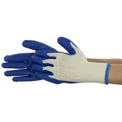 Rubberized gloves Blue 5 double set