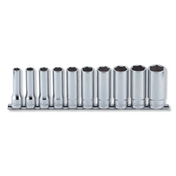 "Hand Socket 1/2"" ""(12.7 mm) 12-Sided Deep Socket Rail Set RS4305A/10"