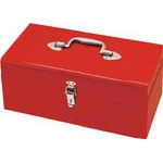 Single-opening metal case, red