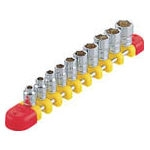 Socket set (hex type / 6.3 mm Insertion Angle / includes holder)